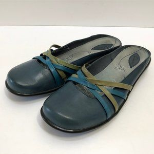 Clarks Poe Leather Mules Slides Slip On Shoes 8.5